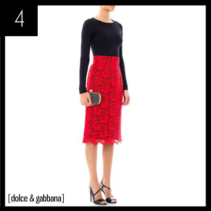 4 Dolce & Gabbana Lace pencil skirt