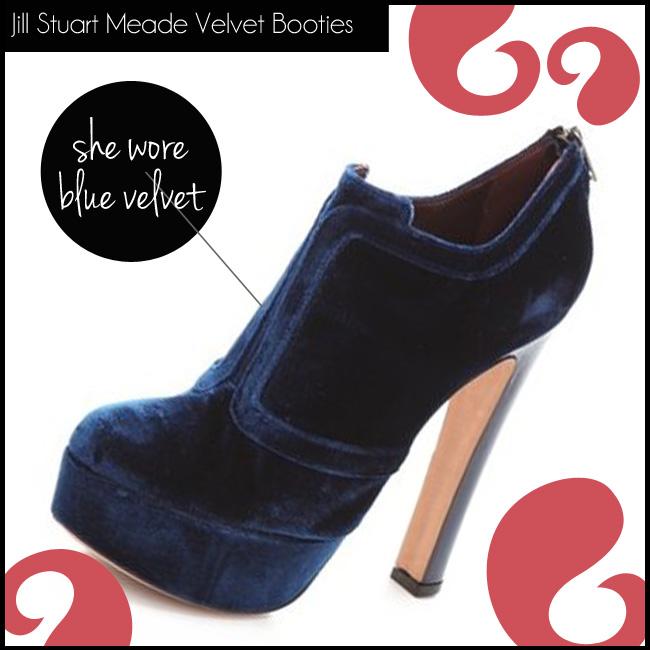 4 Jill Stuart Meade Velvet Booties