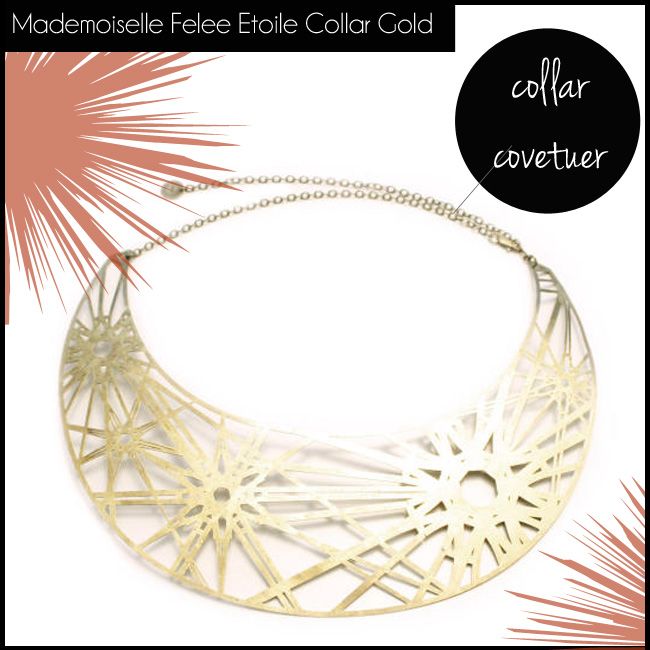 shop the Mademoiselle Felee Etoile Collar Gold