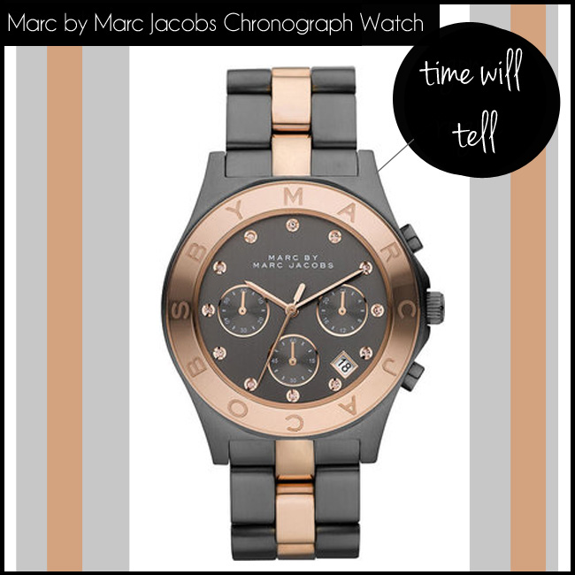 4 Marc by Marc Jacobs Chronograph Blade Two Tone Stainless Steel Watch