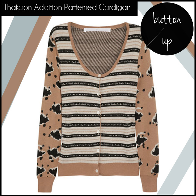 4 Thakoon Addition Patterned Knitted Cotton Cardigan