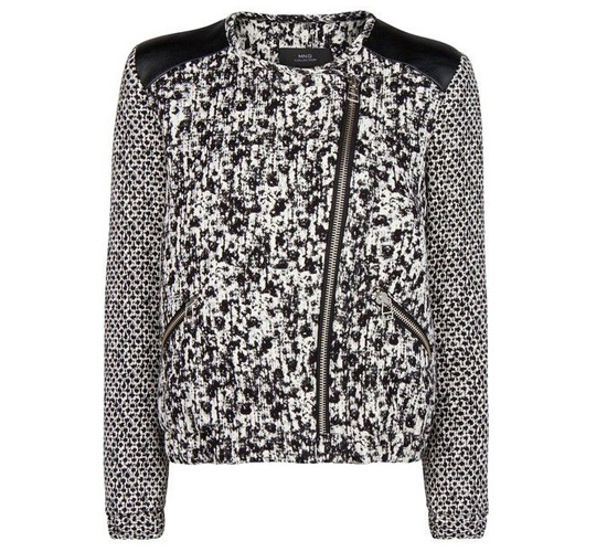 shop the MANGO Monochrome jacquard jacket