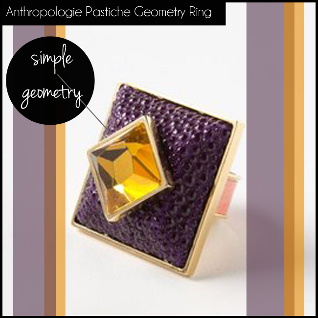 5 Anthropologie Pastiche Geometry Ring