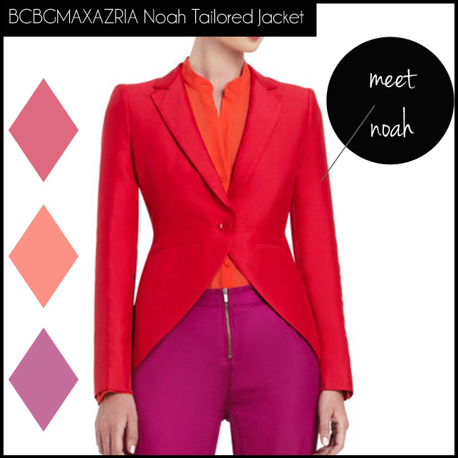 5 BCBGMAXAZRIA Noah Tailored Long-Sleeve Jacket