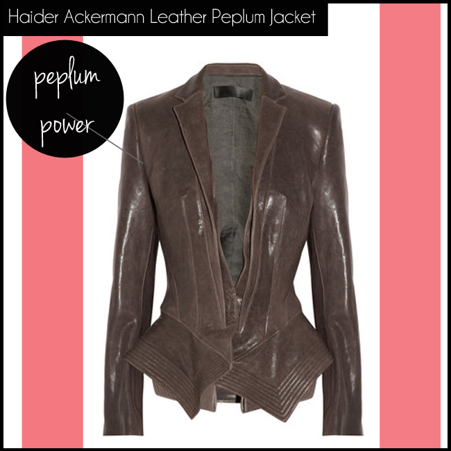 5 Haider Ackermann Leather Peplum Jacket
