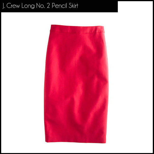5 J. Crew Long No. 2 Pencil Skirt