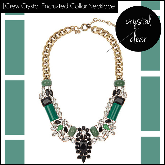 5 J.Crew Crystal Encrusted Collar Necklace
