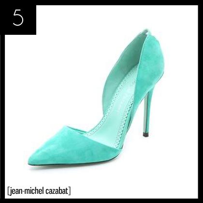 5 Jean-Michel Cazabat Ella Suede d'Orsay Pumps