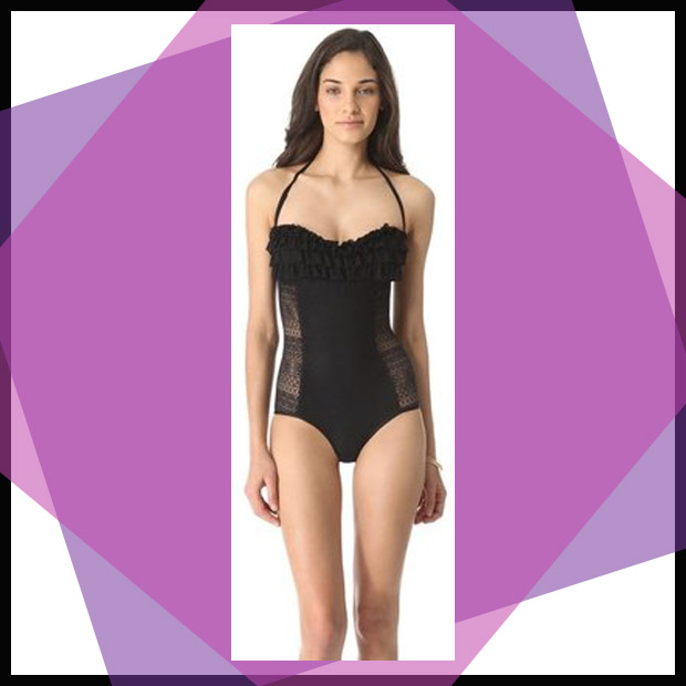 5 Juicy couture Prima Donna Ruffle Maillot