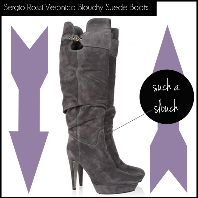 5 Sergio Rossi Veronica Slouchy Suede Boots