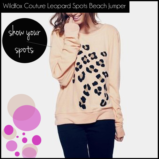 5 Wildfox Couture Leopard Spots Baggy Beach Jumper In