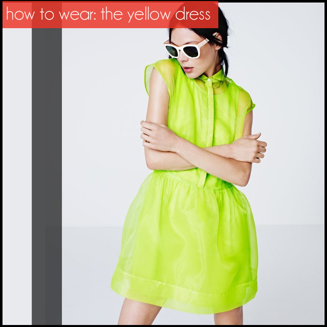 how to wear a yellow dress