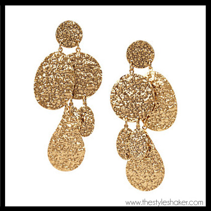 shop the Oscar de la Renta Hammered Gold Plated Clip Earrings