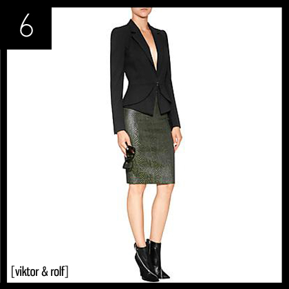 6 Viktor & Rolf Snake-Print Pencil Skirt