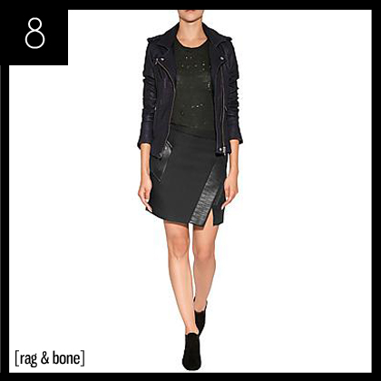 8 Rag & Bone Flight Wrap Skirt in Black