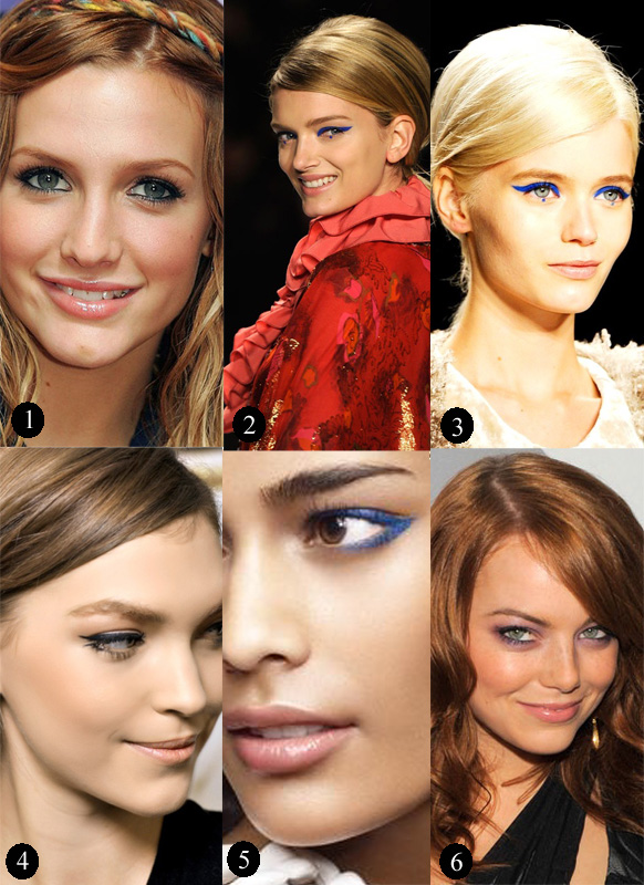 blue eyeliner montage
