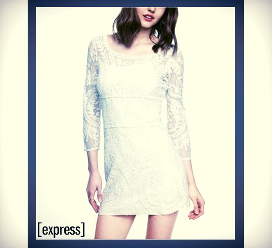 How Do I Wear This White Lace Dress from Express?