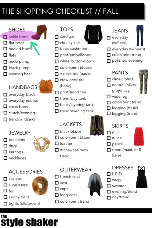 The Fall Shopping Checklist