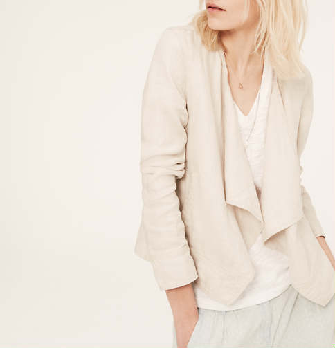 Lou & Grey Linen Cardi-Jacket by LOFT