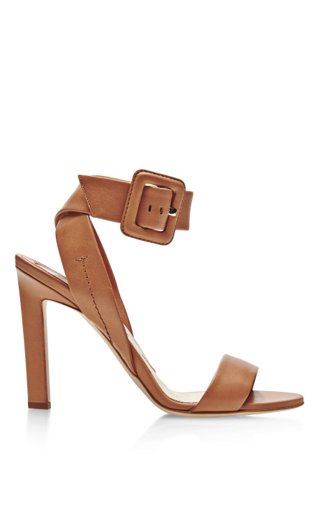 Arizona Ankle-Wrap Leather Sandals by Brian Atwood
