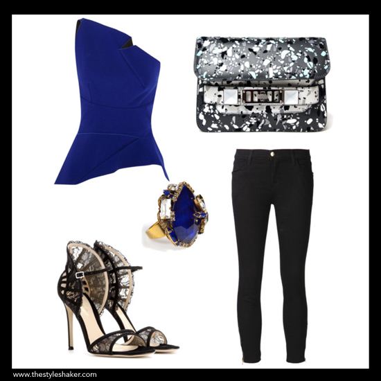 sources: 1. top: net-a-porter.com, 2. sandals: mytheresa.com, 3. ring: stylebop.com, 4. bag: kirnazabete.com, 5. jeans: farfetch.com