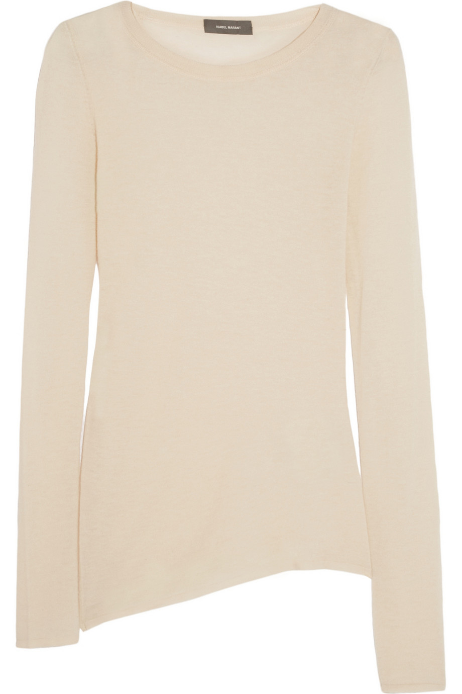 Isabel Marant beige long-sleeve cashmere sweater | source: theoutnet.com