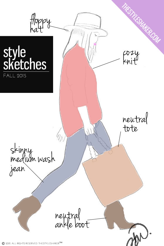 Fall 2015 Style Sketch: fashion illustration inspiration.