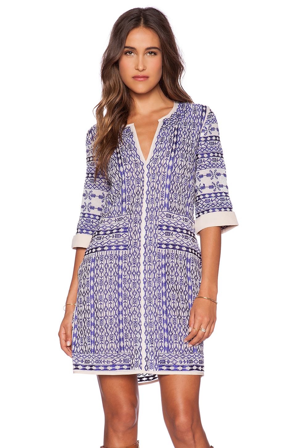 Love Sam Jacquel Embroidered Dress • $162 • Revolve Clothing