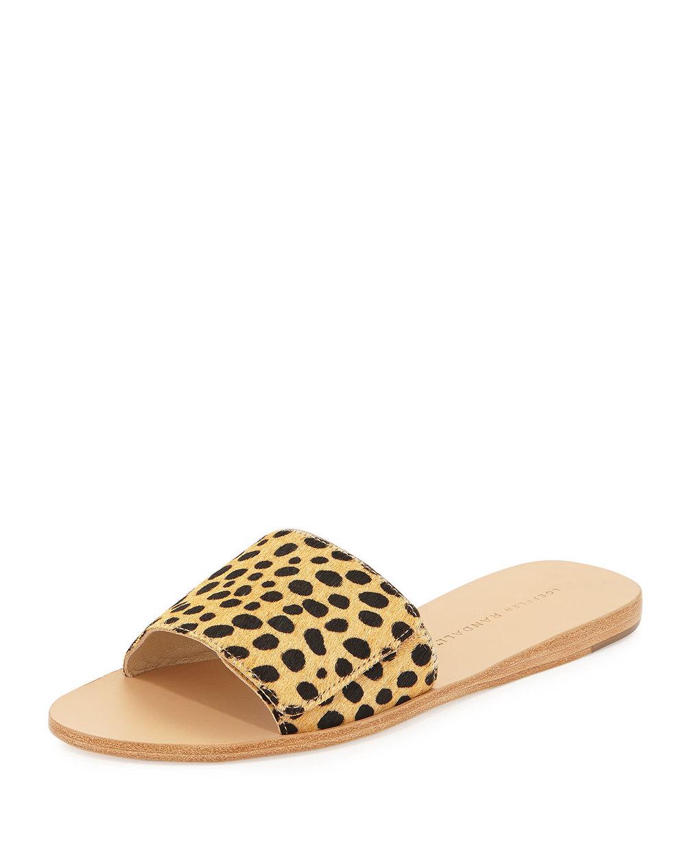 Loeffler Randall Sibi Calf-Hair Sandal Slide, Cheetah • $69.60 • Neiman Marcus