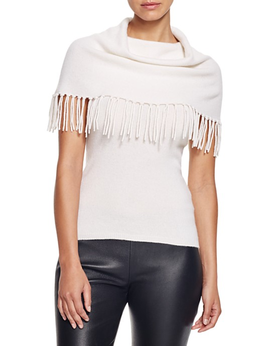 Moon & Meadow Fringed Cowl-Neck Sleeveless Sweater • $78.75 • Bloomingdale's