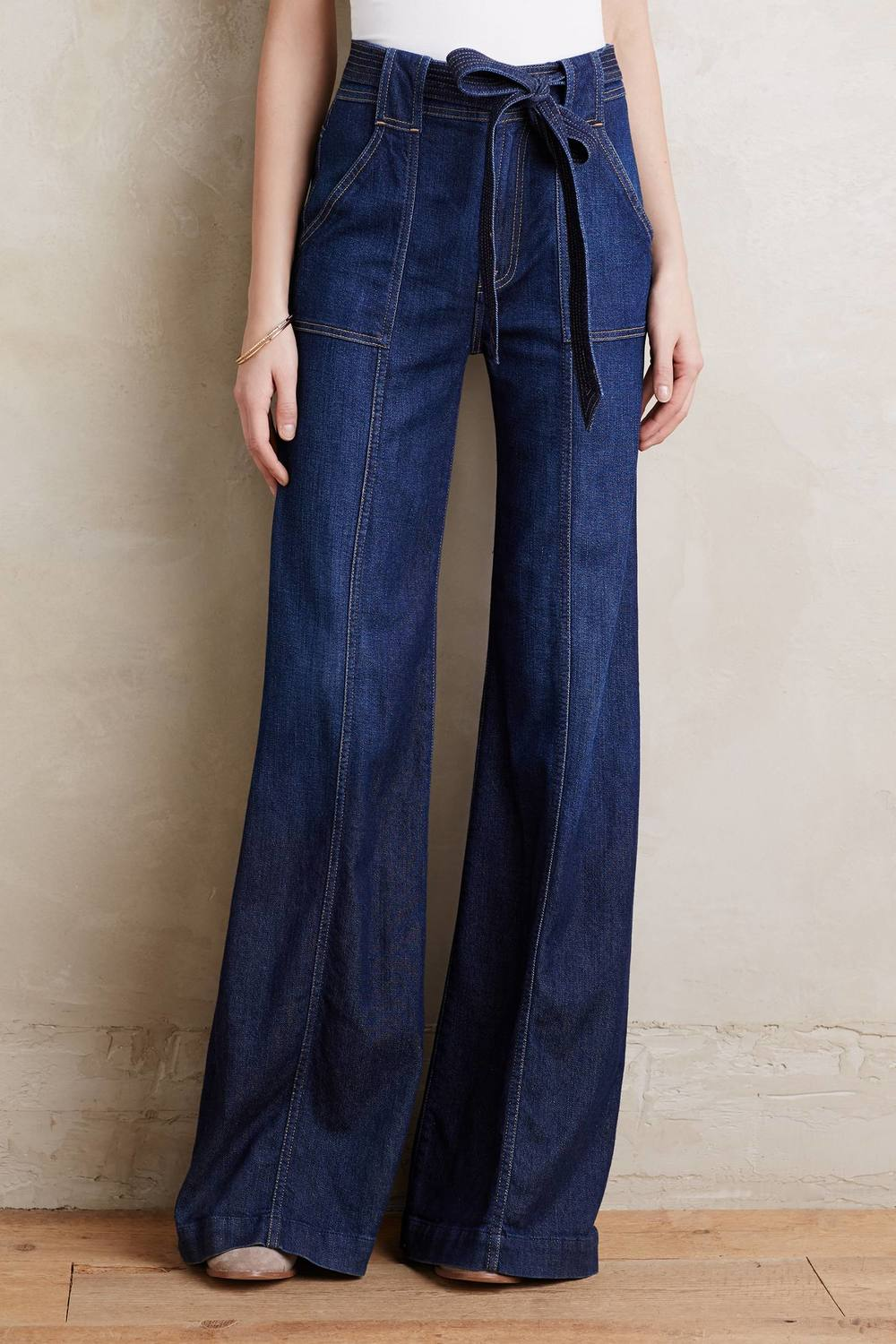 7 For All Mankind Palazzo Jeans Dark Denim 24 Pants
