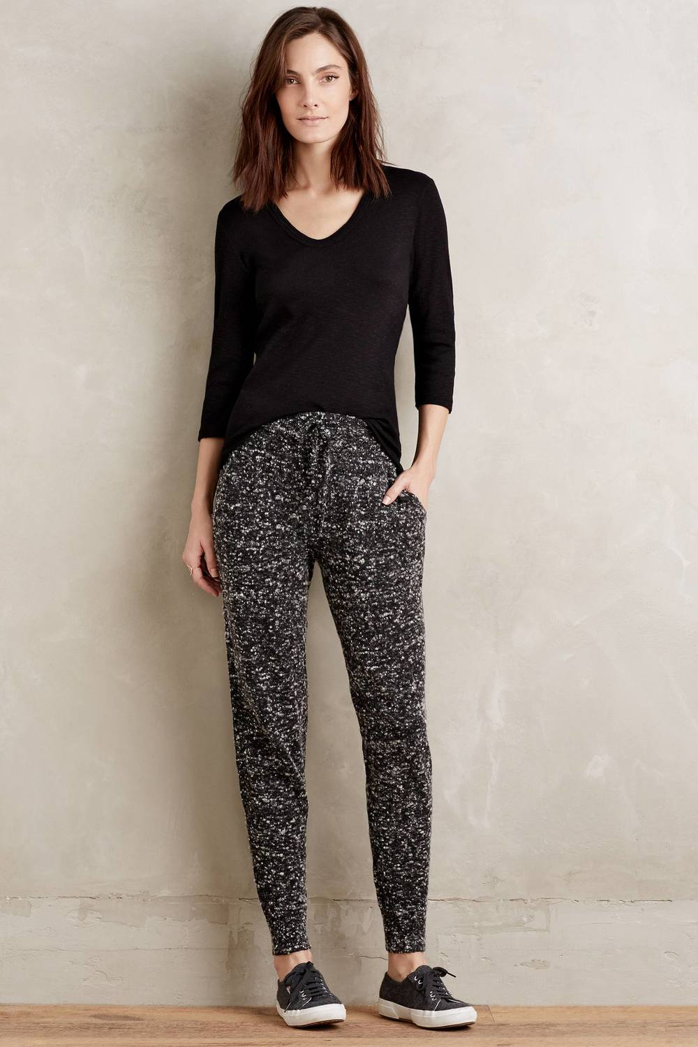 Moth Marled Knit Joggers