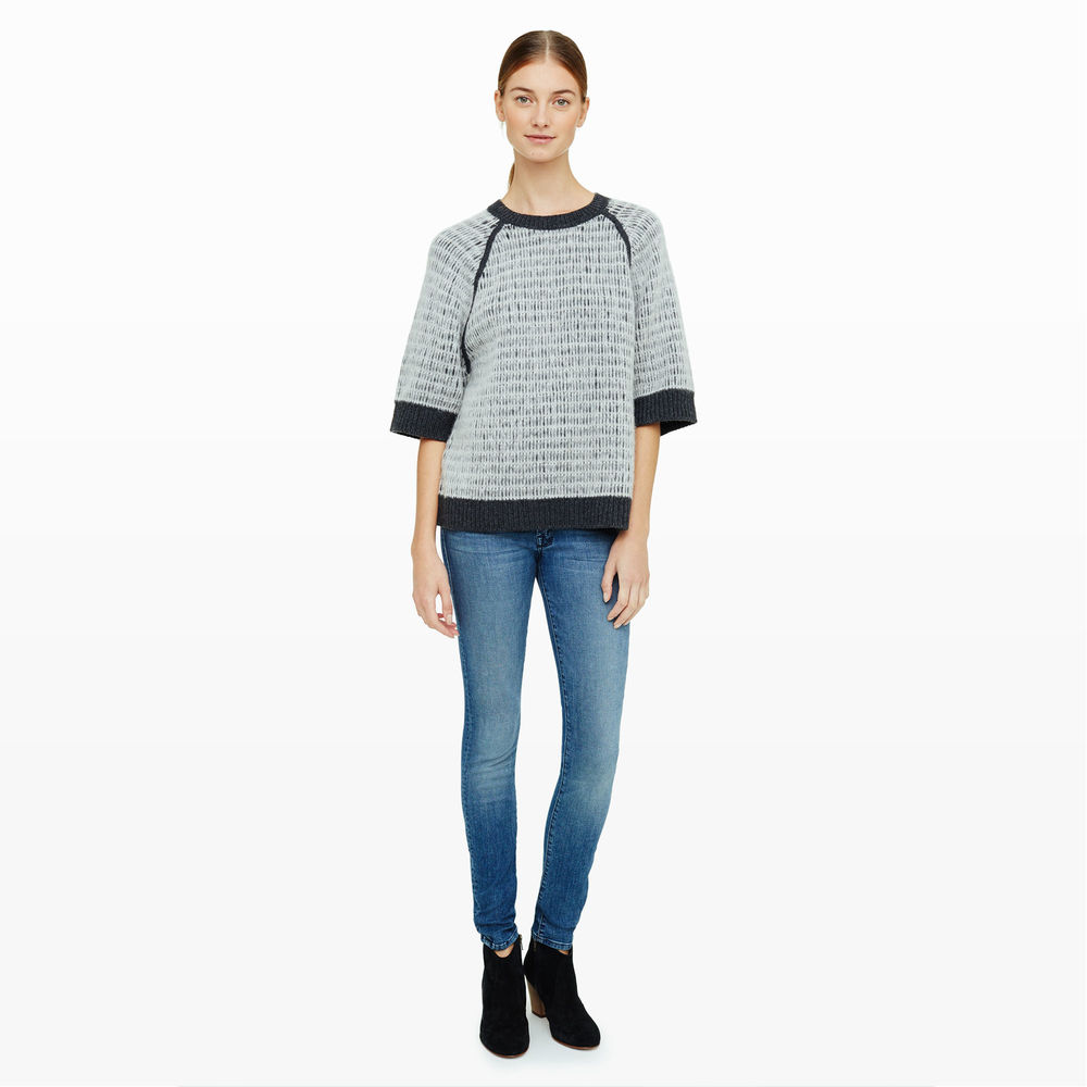 shop the Magnea Brushed-Cashmere Crew sweater