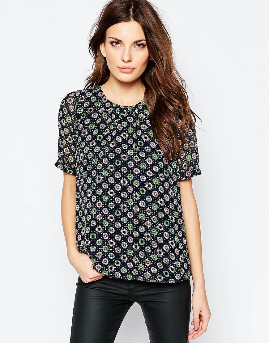 shop the French Connection Top in Medina Tile Print