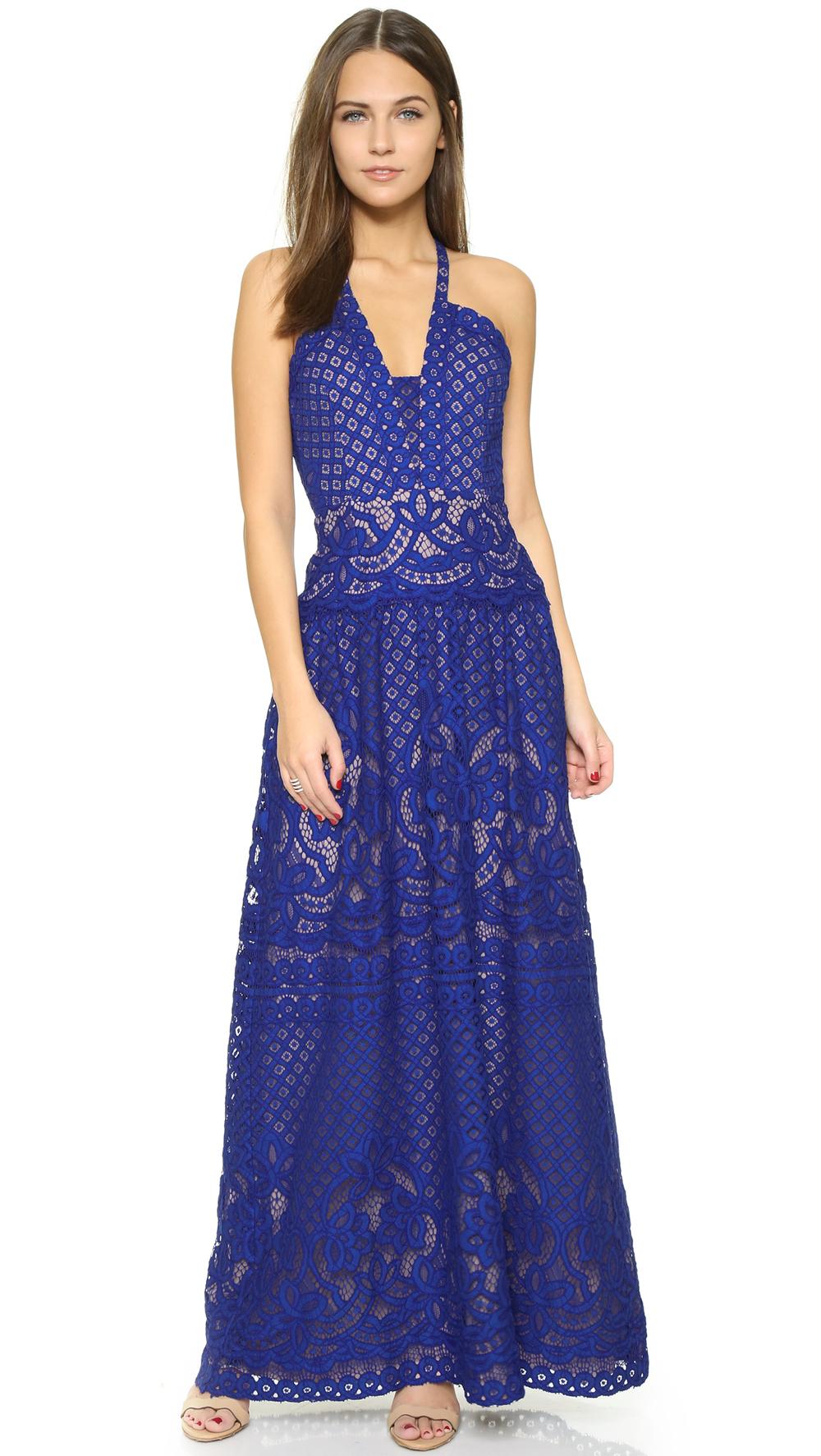 shop the BCBGMAXAZRIA Lace Gown