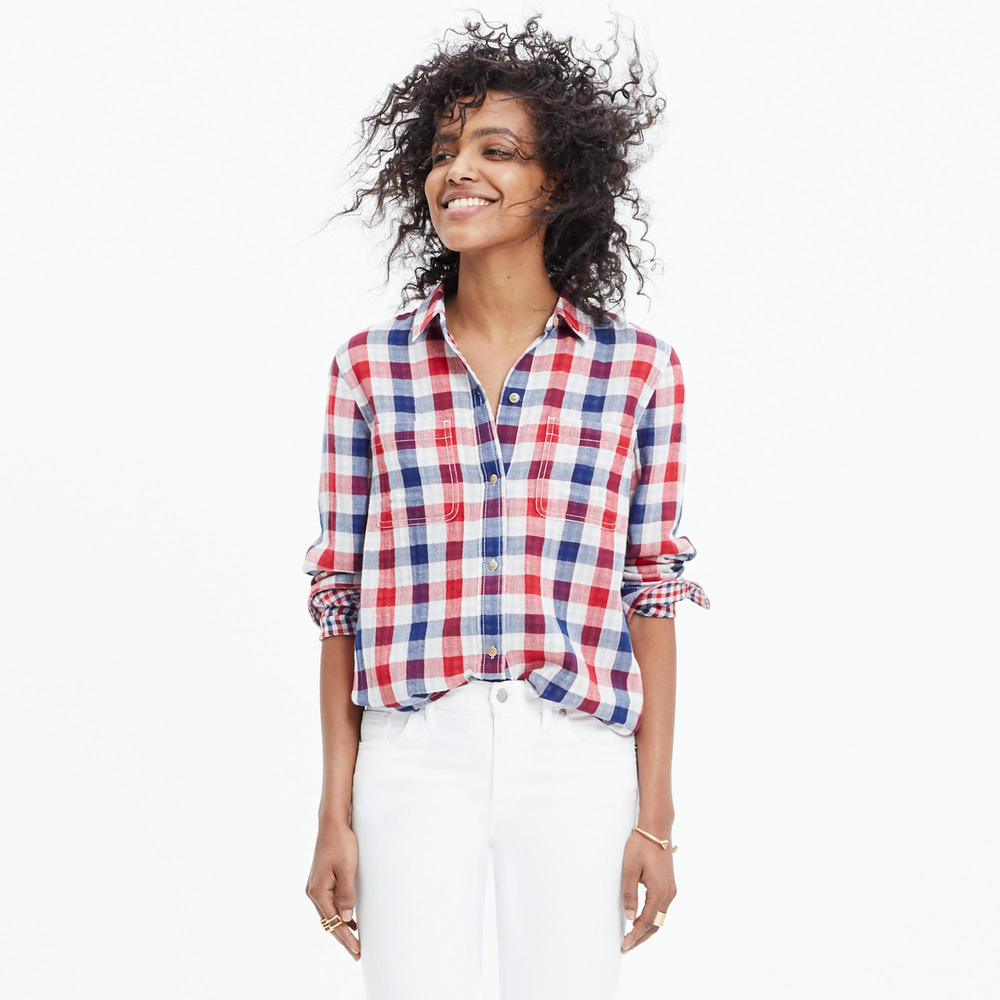 shop the Madewell Ex-Boyfriend Shirt in Emmett Plaid
