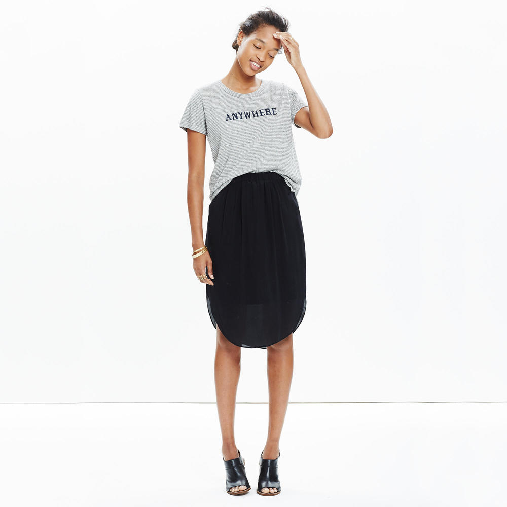 shop Madewell's Silk Island Skirt
