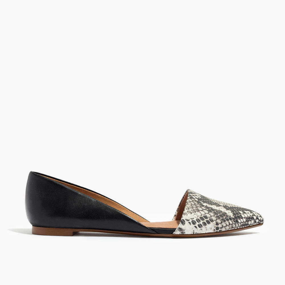 shop Madewell's The Lydia Flat in Embossed Leather