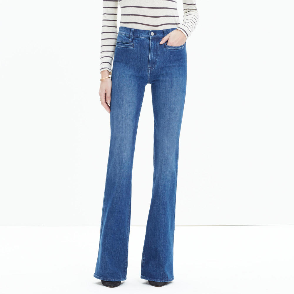 shop Madewell's Flea Market Flares in Kara Wash
