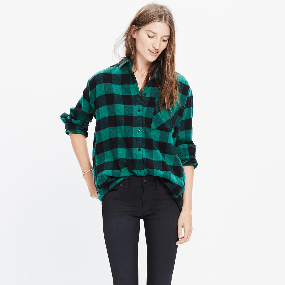 shop Madewell's Flannel Sunday Shirt in Buffalo Check