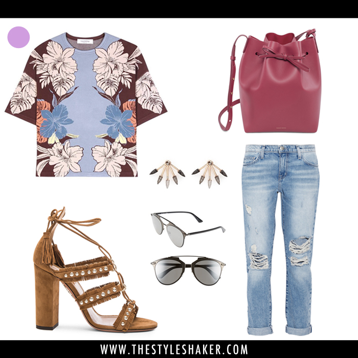 How to Wear a Floral Print with Boyfriend Jeans
