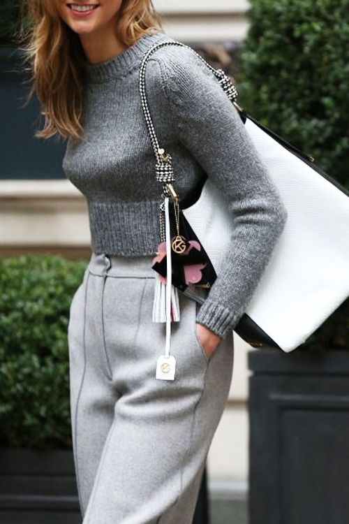 Here's Why Wearing Gray-on-Gray Works for Fall. SHOP THE LOOK.