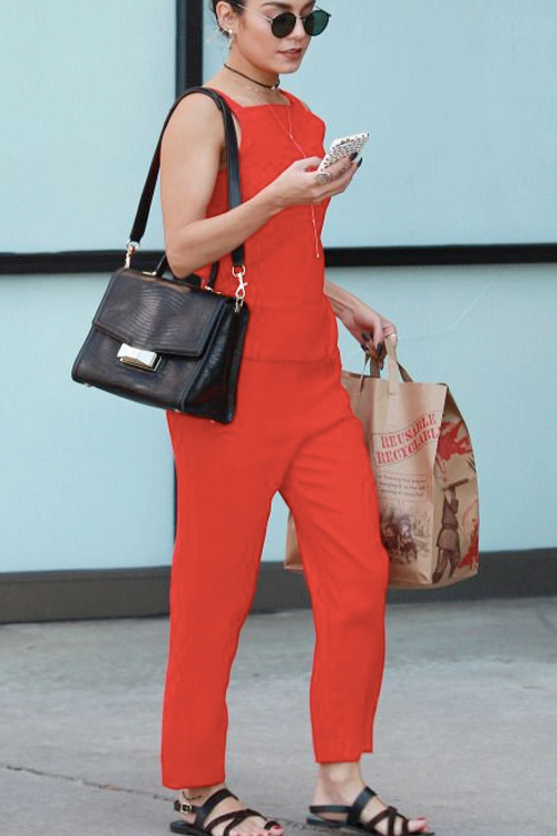 Try a Red Jumpsuit for the Weekend. SHOP THE LOOK.