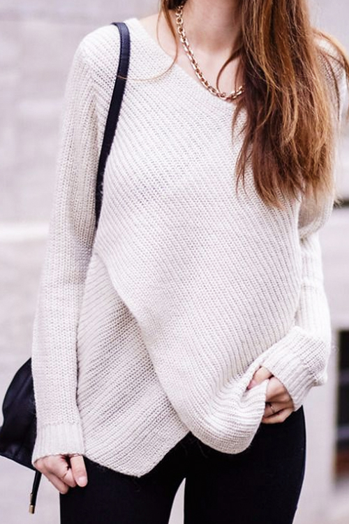 How to Wear an Asymmetrical Hem Sweater: SHOP THE LOOK
