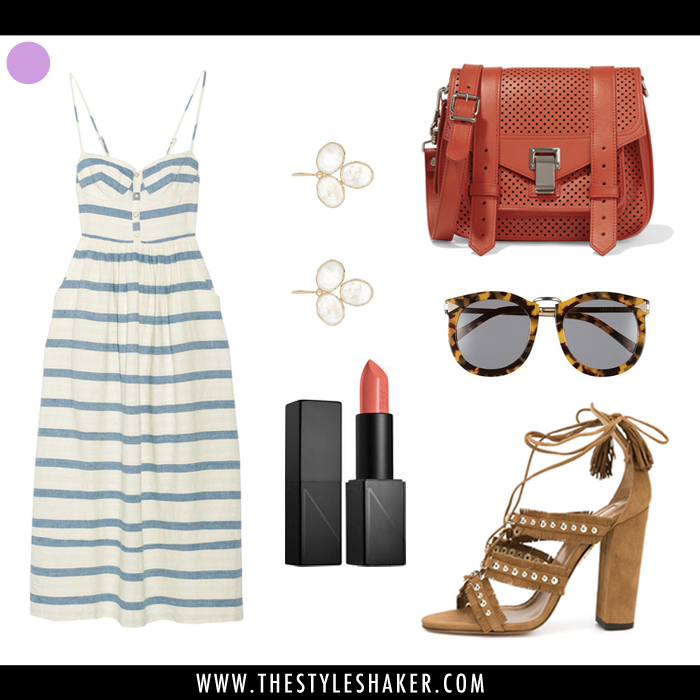 how to wear a striped summer dress