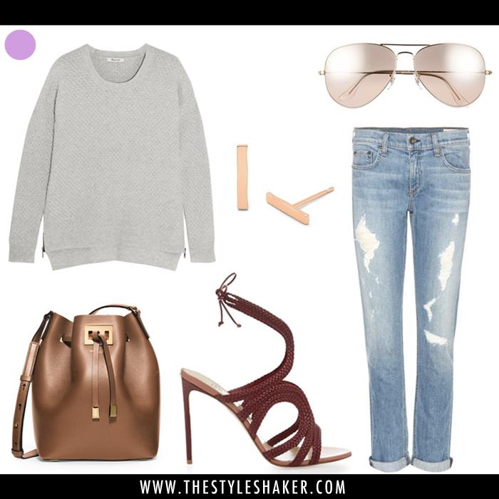How to wear boyfriend jeans.