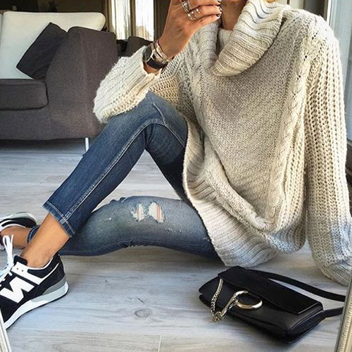 What to Wear This Weekend: Sweaters & Sneakers. GET THE LOOK...