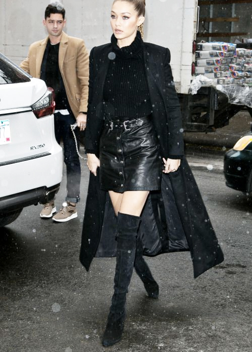 How to Wear a Leather Mini Skirt And Over-the-Knee Boot. GET THE LOOK.