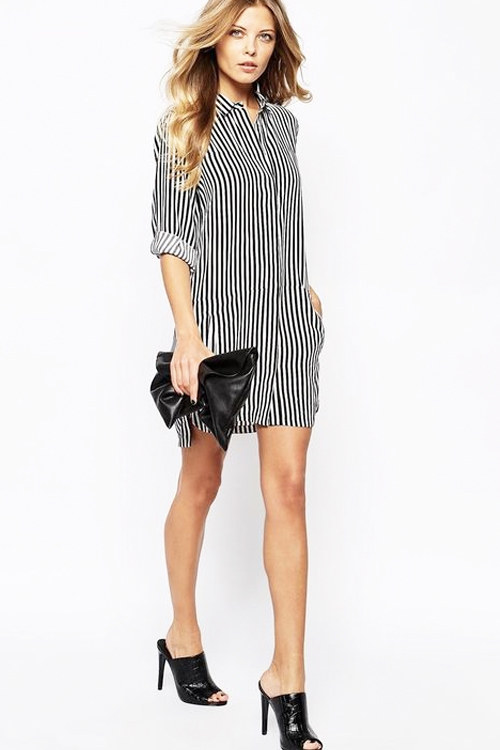 found on   stylecaster.com     Perfect for: Rectangle & Hourglass Body Types   *Hourglasses: cinch in the dress at your natural waist with a black leather wrap belt.