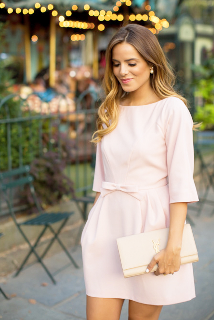 What To Wear To A Wedding Light Pink Long Sleeve Dress The
